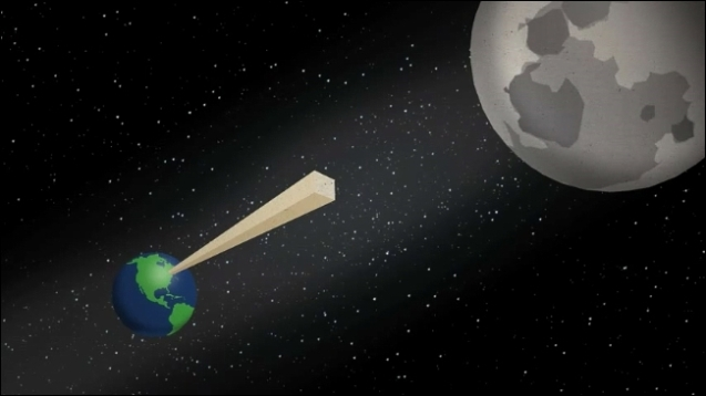 folding paper to moon